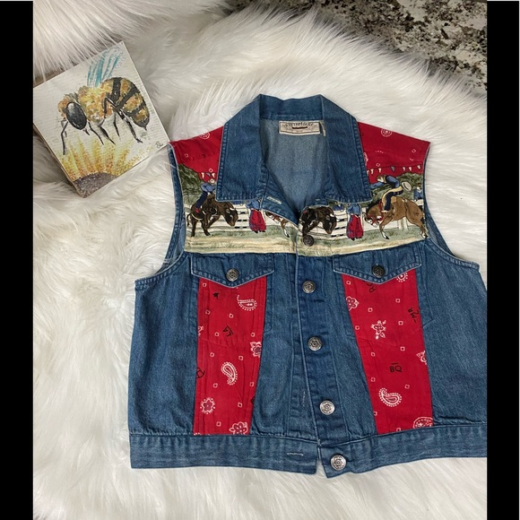 Cowgirl Western Jean Jacket Small